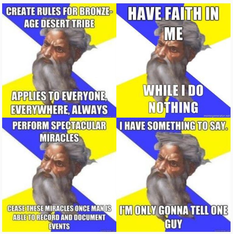 Scumbag God Meme